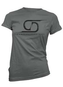 Damnations Day - Logo Girls T-Shirt - Charcoal