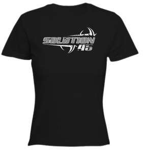 Solution 45 Ripped Logo Girls T-Shirt