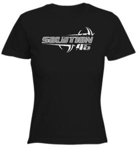 Solution 45 Ripped Logo Girls T-Shirt