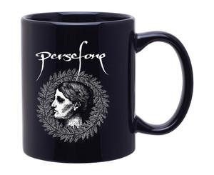 11oz. Black Mug with Persefone Wreath Design on both sides