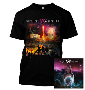 Seventh Wonder - Tiara Save Us  - T-Shirt & CD Bundle