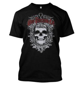 Mors Principium Est Ornate Skull T-Shirt