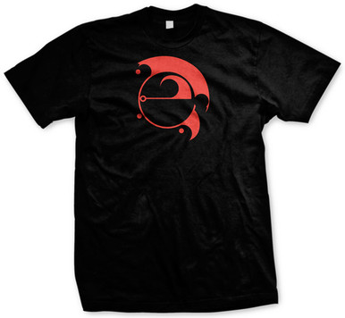 Front of Shirt: Epic Rock Radio Symbol in Red