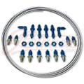 JBtuned Honda Acura Brake Line Tuck Kit - Blue Finish