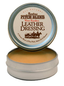 leather dressing in tin tub