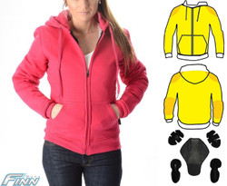 Ladies Pink Hoodie Motorcycle Jacket