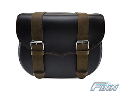509 - V Brown Throwover Saddlebags