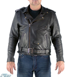 Mens Aniline Brando Leather Jacket