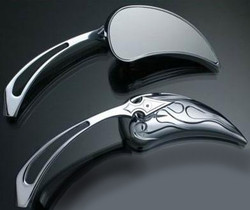 Custom Harley Chopper Chrome Motorcycle Mirrors