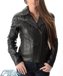 Ladies Motorcycle Brando Leather Jacket