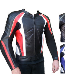 Mens Sports Motorcycle Leather Jacket