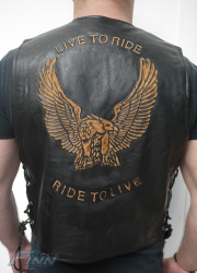 Eagle Leather Motorcycle Vest (Preorder)