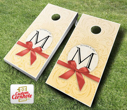 Wedding Bow Cornhole Set with Bags
