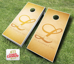 Wedding Rustic Name Cornhole Set with Bags