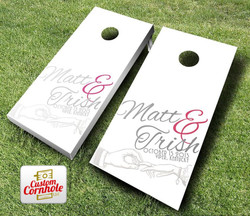 Wedding Hand Cornhole Set with Bags