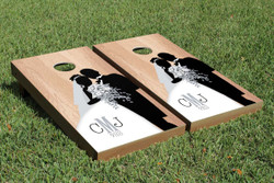 Hardcourt Wedding Cornhole Set with Bags