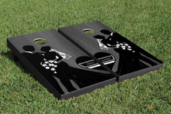 Onyx Bride and Groom Cornhole Set with Bags