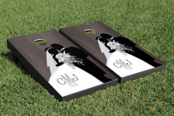 Onyx Wedding Cornhole Set with Bags