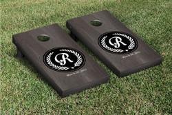 Onyx Circle Initial Cornhole Set with Bags