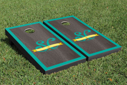 Onyx Monogram Border Cornhole Set with Bags