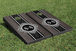 Onyx Monogram Cornhole Set with Bags