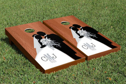 Rosewood Wedding Cornhole Set with Bags