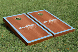 Rosewood Monogram Border Cornhole Set with Bags