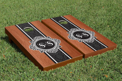 Rosewood Monogram Cornhole Set with Bags