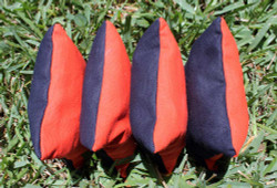Dual Color Cornhole Bags (ORANGE & NAVY BLUE) - Set of 4