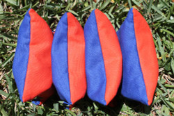 Dual Color Cornhole Bags (ORANGE & ROYAL BLUE) - Set of 4