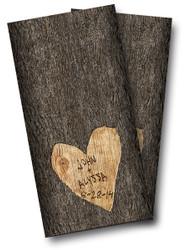 Wedding Tree Carved Cornhole Wraps