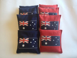 Australian Flag Cornhole Bags - Set of 8
