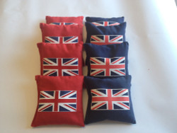 British Flag Cornhole Bags - Set of 8