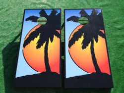 Sunset Cornhole Set with Bags