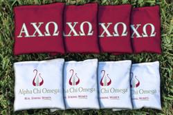 Alpha Chi Omega Cornhole Bags - Set of 8