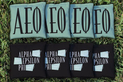 Alpha Epsilon Phi Cornhole Bags - Set of 8