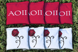 Alpha Omicron Pi Cornhole Bags - Set of 8