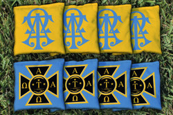 Alpha Tau Omega Cornhole Bags - Set of 8