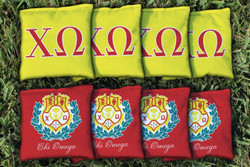 Chi Omega Cornhole Bags - Set of 8