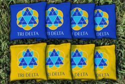Delta Delta Delta Cornhole Bags - Set of 8