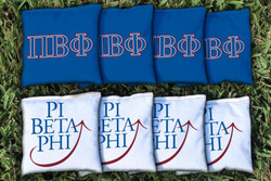 Pi Beta Phi Cornhole Bags - Set of 8