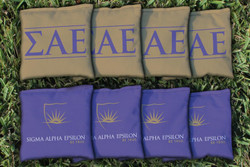 Sigma Alpha Epsilon Cornhole Bags - Set of 8