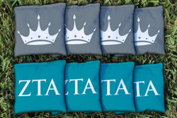 Zeta Tau Alpha Cornhole Bags - Set of 8