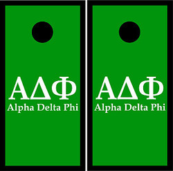 Alpha Delta Phi Cornhole Set with Bags