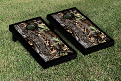 Camouflage Black Border Cornhole Set with Bags
