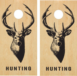 Deer Silhouette Cornhole Set with Bags