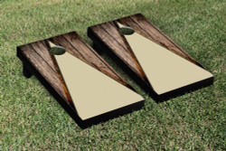 Wood Look Cornhole Set with Bags