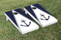 Anchor Navy Blue Cornhole Set with Bags