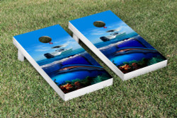 Sport Fishing Cornhole Set with Bags