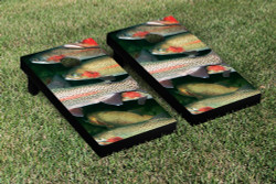 Trout Fish Cornhole Set with Bags
